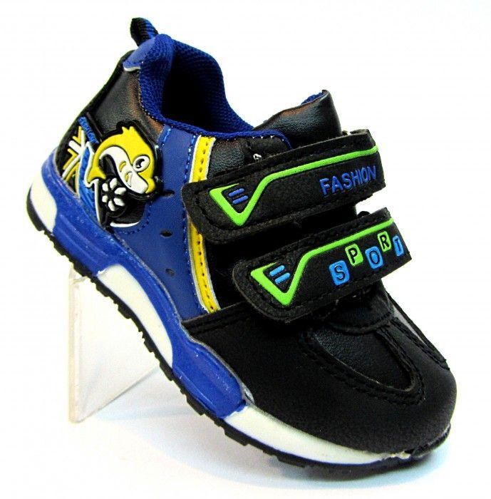 кросівки для діток 111-2 black - в інтернет магазині дитячих кросівок для хлопчиків