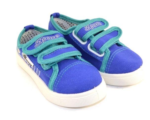 Кеди на липучках B62 блакитні - в інтернет магазині дитячих кросівок для хлопчиків