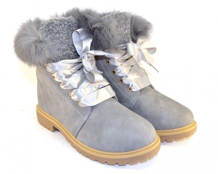 красивые ботинки с опушкой TL0135-2 - купить зимнюю обувь d4ed578be1fc0