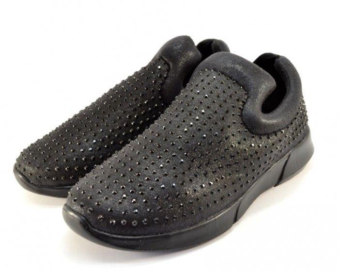 Комфортные слипоны AB57 black - купить кеды в стиле Vans в интернет магазине обуви