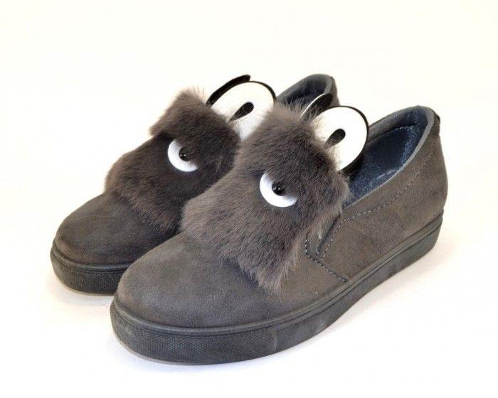 Слипоны с ушками 1333-4 - купить кеды в стиле Vans в интернет магазине обуви