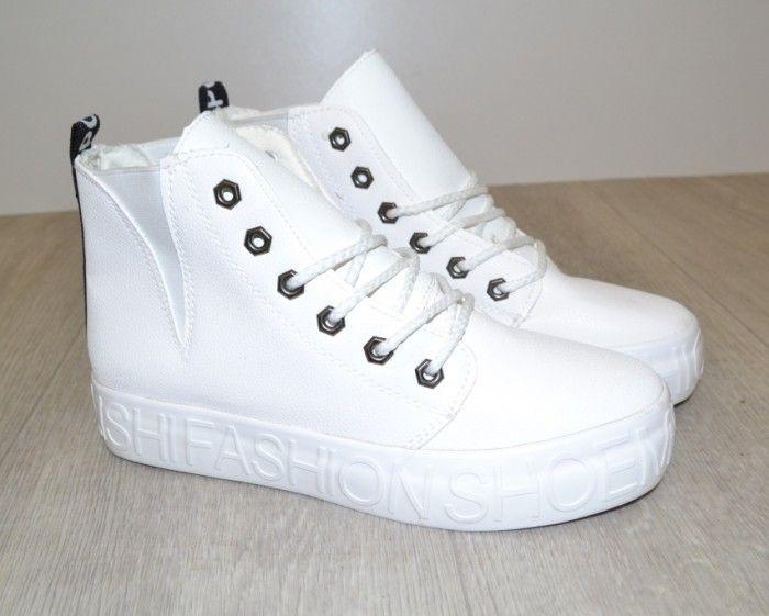 Черевики весняні та осінні - Комфортні демісезонні черевики 9165 white