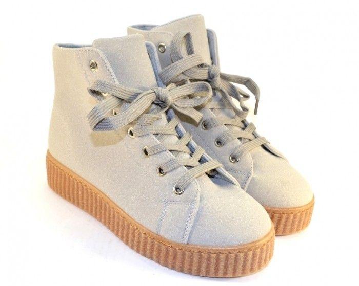 Черевики весняні та осінні - Комфортні замшеві черевики AM1103 GREY