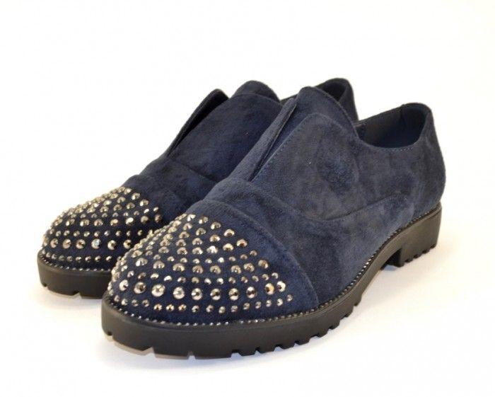 2e8715c3aae8 Стильные и удобные повседневные туфли 22-2 BLUE - женская обувь ...