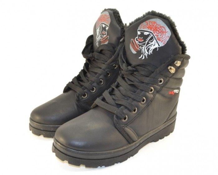 молодёжные зимние ботинки Q2059 - купить зимнюю обувь