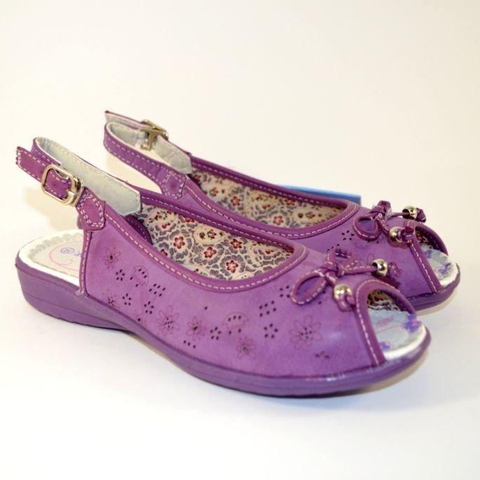 Фіолетові босоніжки для дівчинки в Запоріжжі, дитяче взуття в сандалях
