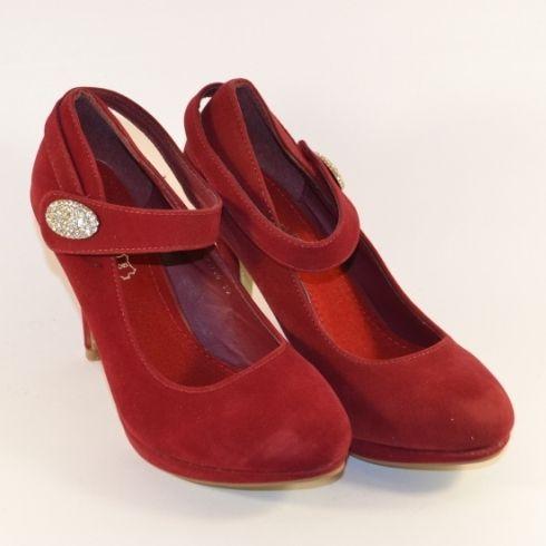 Модельні червоні туфлі, купити червоні жіночі туфлі, жіночі туфлі на шпильці недорого