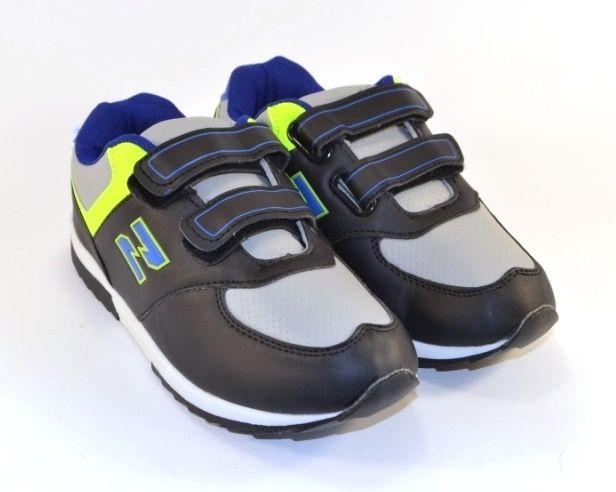 Кроссовки детские 610C-1 black\gr - в интернет магазине детских кроссовок для мальчиков