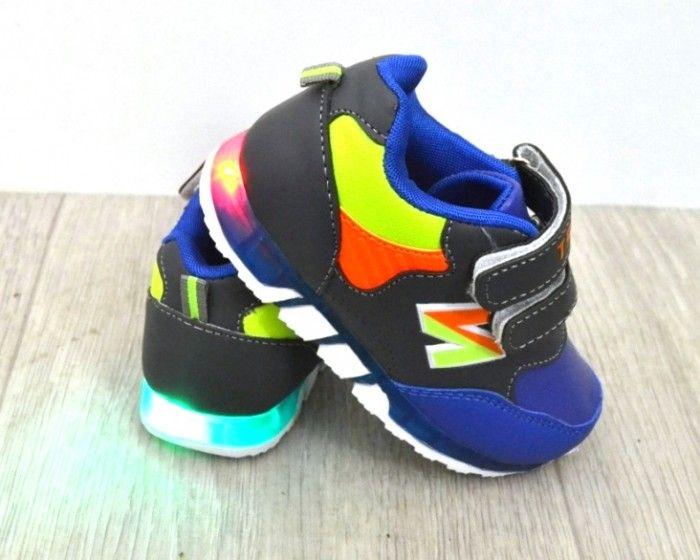 Кросівки з ліхтариками для хлопчиків F601-2 - в інтернет магазині дитячих кросівок для хлопчиків