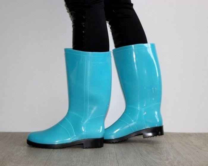 Силиконовые сапоги 763-7 бирюза - купить в интернет-магазине обуви Сан-Даль