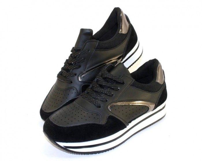 Стильные женские кроссовки L109-black  - купить в интернет магазине в Запорожье, Днепре, Харькове