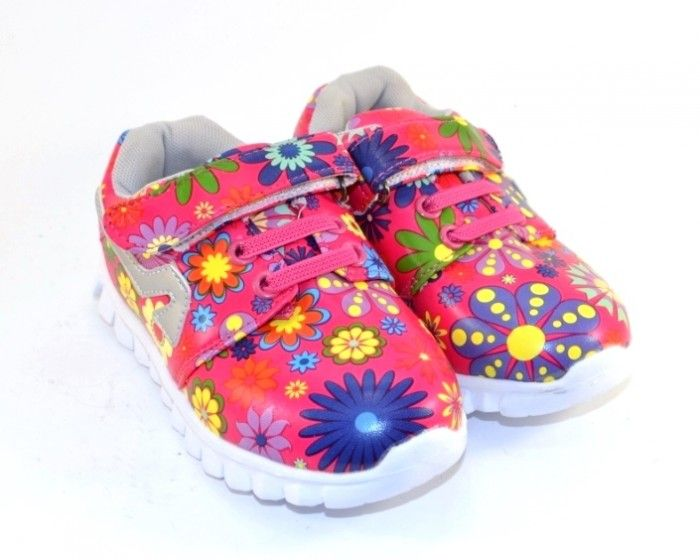 Яскраві стильні кросівки для дівчаток 237-5 - купити дитячі кросівки для самих маленьких дівчаток