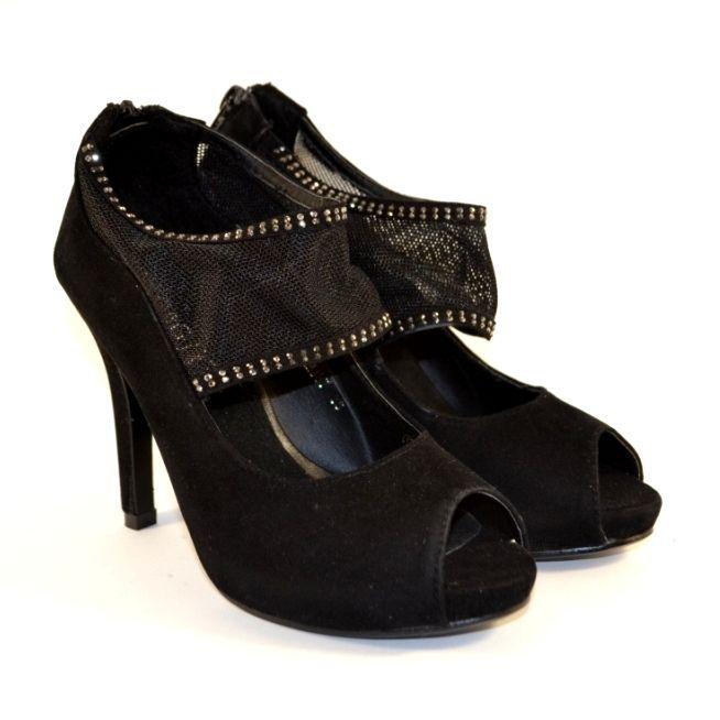 Туфлі з відкритим носком на високих підборах недорого, купити туфлі на підборах в Запоріжжі