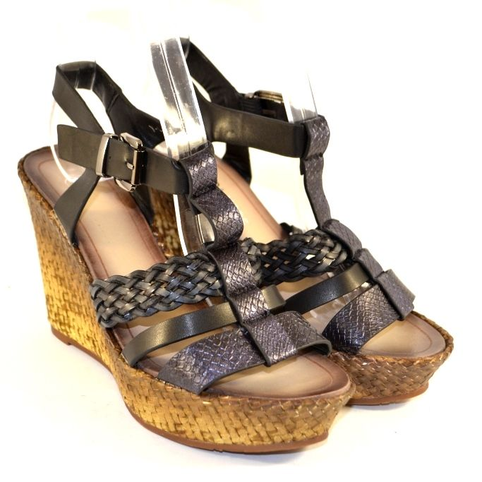 Красивые босоножки на танкетке, женская летняя обувь Запорожье, летняя обувь Сандаль