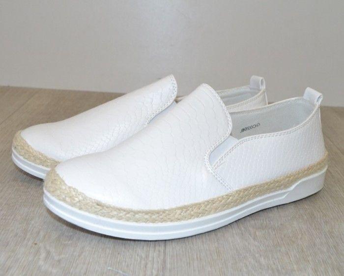 Класні білі сліпони GC020B - купити кеди в стилі Vans в інтернет магазині взуття