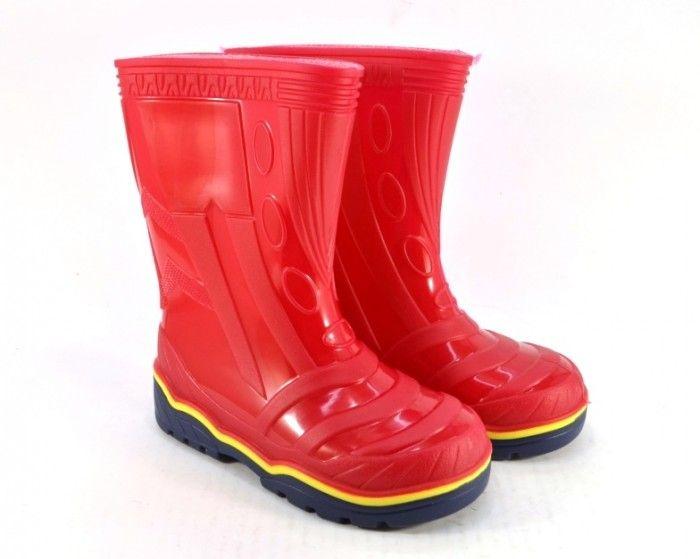 Купить силиконовые сапоги в Запорожье, красные резиновые сапоги, силиконовая детская обувь Сандаль