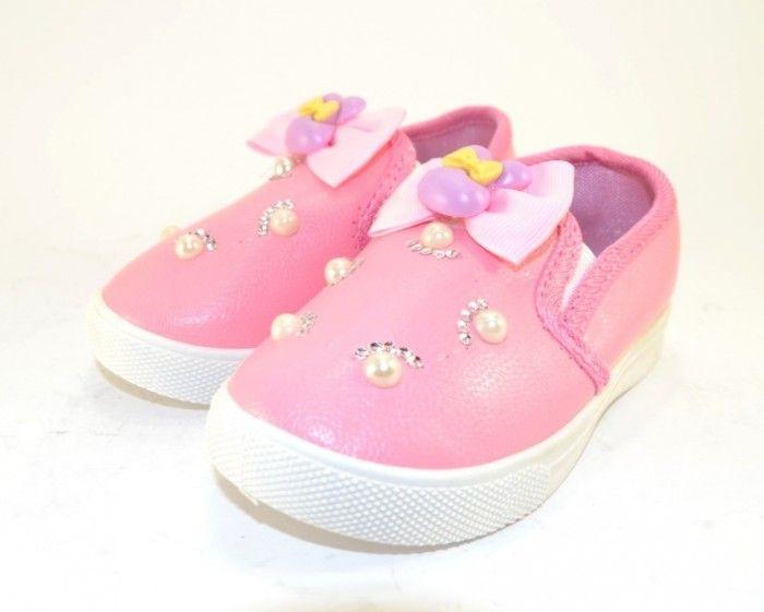 12468adf Красивые слипоны для девочек G190-1 - купить детские кроссовки для самых  маленьких девочек