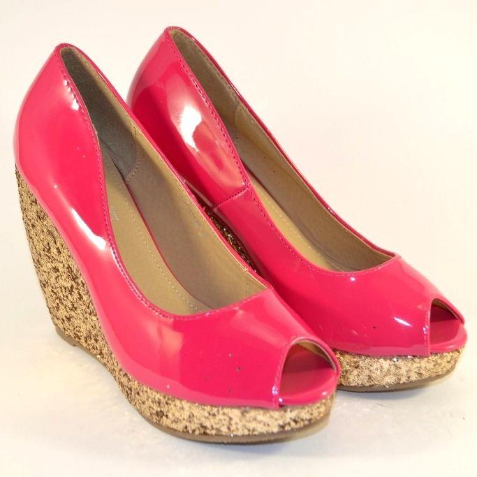 Летние яркие модельные туфли на танкетке дёшево, женская летняя обувь в Сандале