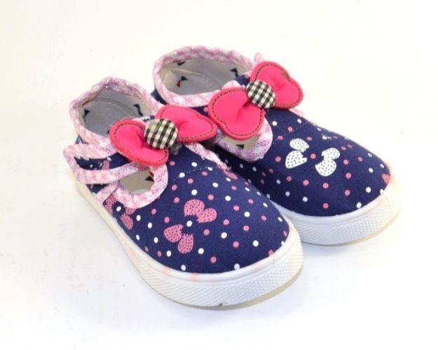 Купити пінетки для дівчаток, тапочки текстильні для сменки, взуття для садка, дитячі тапки Запоріжжя