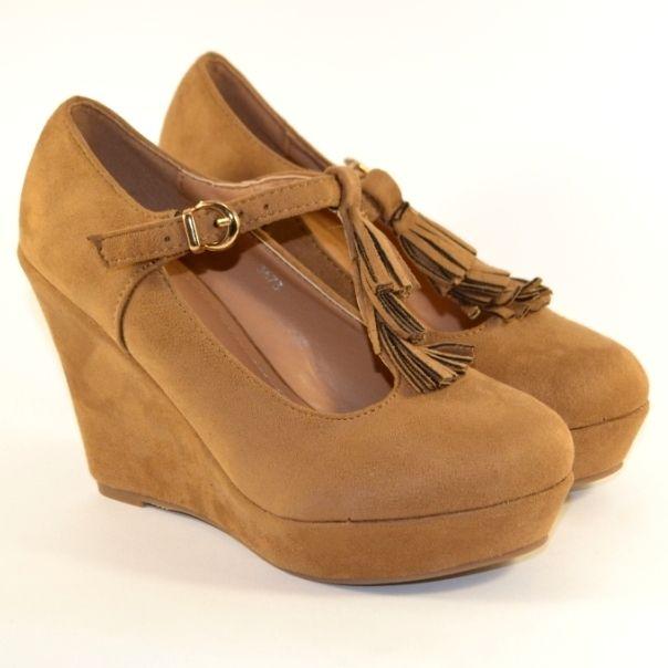 Туфлі жіночі на танкетці 3673 CAMEL, купити жіночі туфлі в Запоріжжі, туфлі жіночі купити Дніпропетровськ