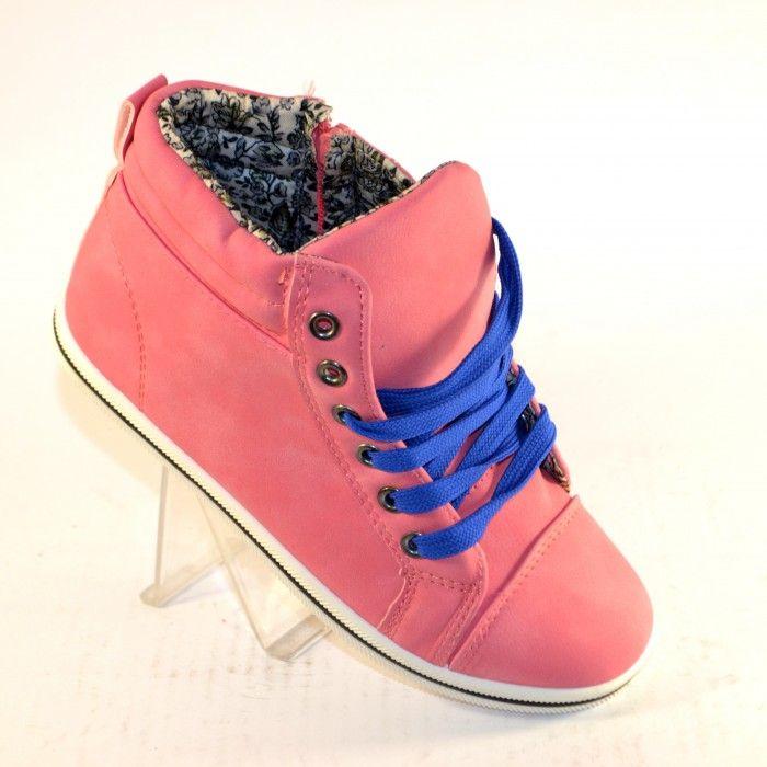 Высокие кеды для малышей H21-розовые - ботинки для девочек демисезон, детская обувь недорого, обувь детская скидки, осенняя обувь