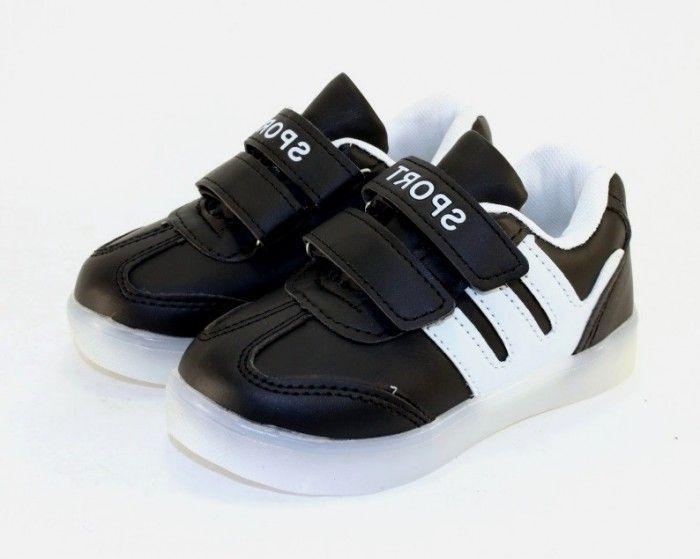 9a24309d ... Кеды с подсветкой W3 BLACK-WHITE - в интернет магазине детских кроссовок  для мальчиков 3 ...