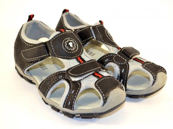 6d1a8d224 Купить летнюю обувь для мальчиков, детские кожаные босоножки, закрытые  детские босоножки 1 ...