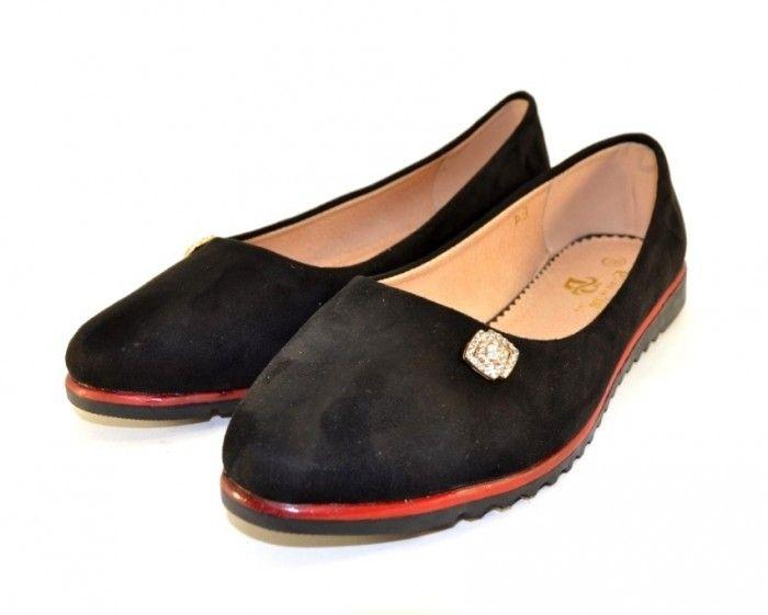 Женские замшевые балетки E4 - купить женскую обувь в интернет-магазине