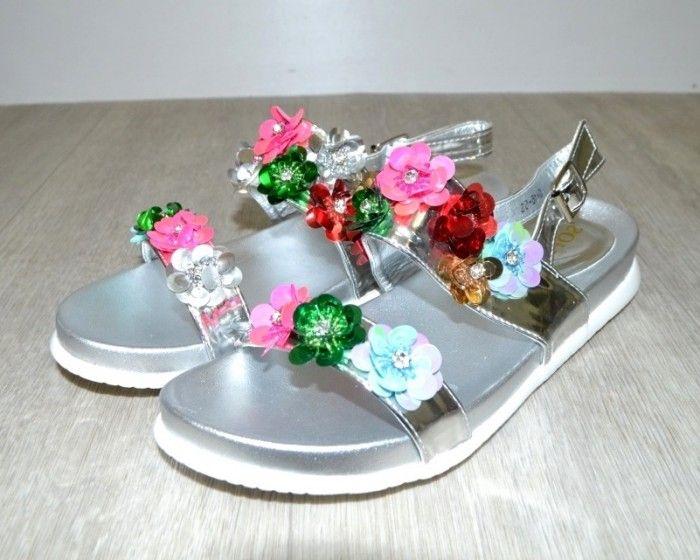 Босоніжки жіночі срібло, розпродаж літнього взуття, літнє взуття, взуття дропшіппінг, взуття Польща
