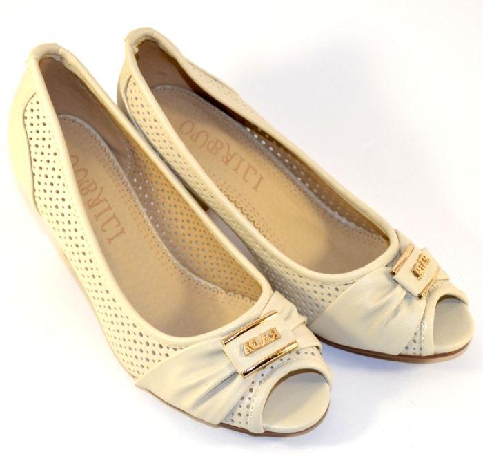 Жіночі літні туфлі з відкритим носком, купити літні туфлі в Запоріжжі