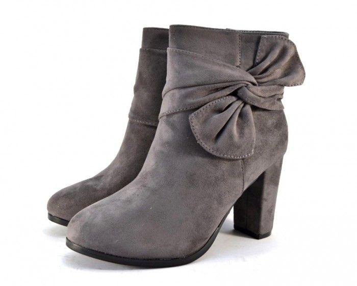 Ботинки весенние и осенние - Красивые демисезонные ботинки  A851 GREY