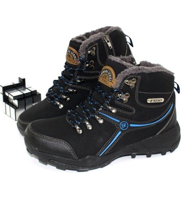 Шкіряні чоловічі зимові черевики, купити чоловіче взуття, шкіряна зимове взуття для чоловіків Запоріжжя