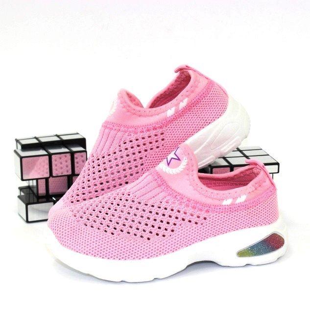 Розовые слипоны для девочек A322-6C - купить детские кроссовки для садика