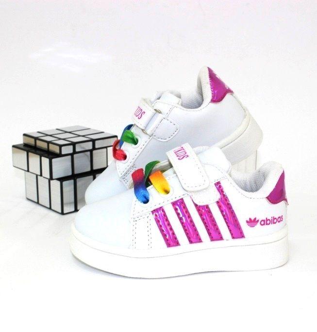Кроссовки белые для малышей A66-2 - купить детские кроссовки для самых маленьких девочек