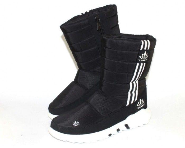 Тёплые модные дутики АД38-черный - стиль, комфорт, удобство.