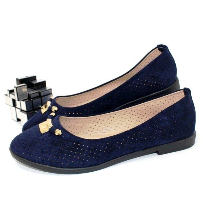 Женские балетки с перфорацией AESD-381-46 - купить женскую обувь в интернет-магазине