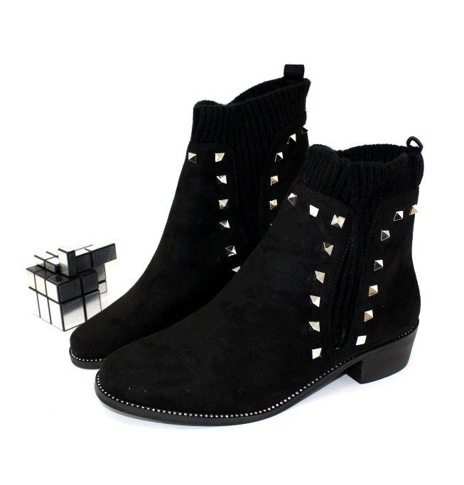 Ботинки весенние и осенние - Комфортные женские ботинки AJ562-black