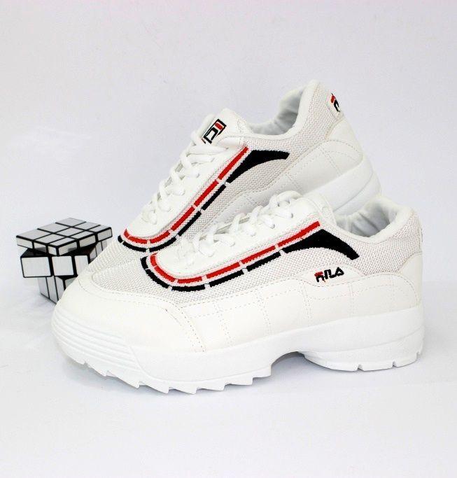 Белые стильные кроссовки B1907-1  - купить в интернет магазине в Запорожье, Днепре, Харькове