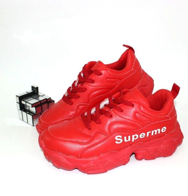 Классные красные кроссовки B1919-5  - купить в интернет магазине в Запорожье, Днепре, Харькове