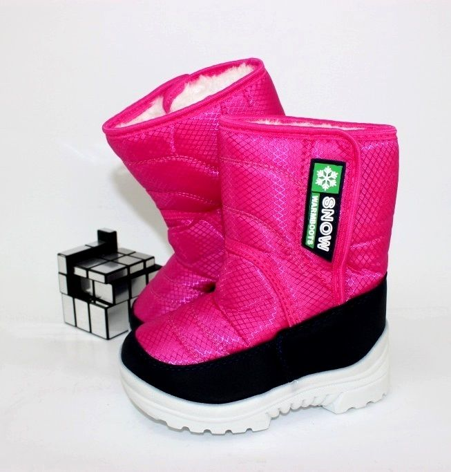 Легкі дитячі чоботи дутики для дівчаток розміри 26 27 28 29 30 31 32