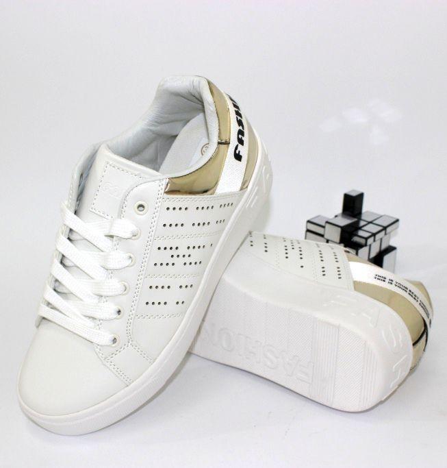 53e5976c0 Красивые кроссовки 456-white - купить девочкам для школы