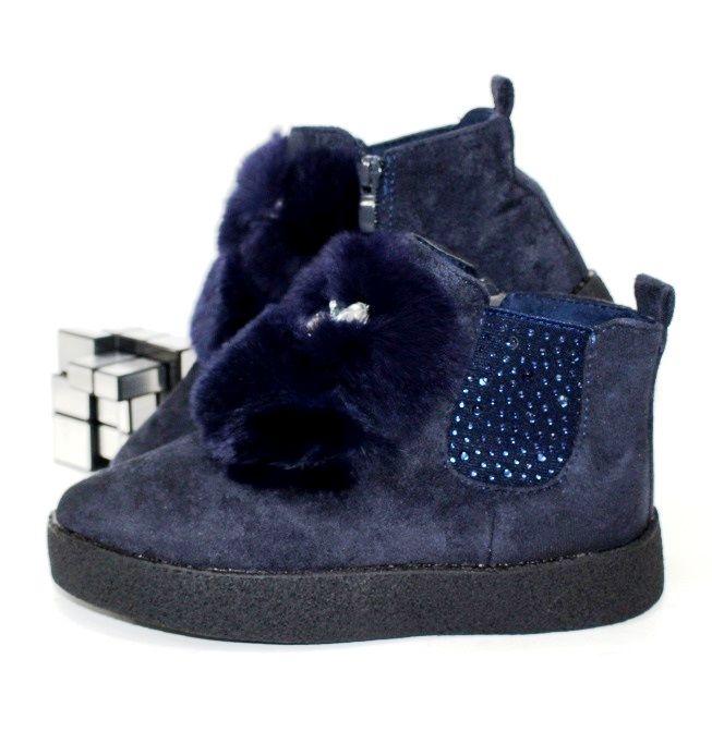 Ботинки для девочек с опушкой E3261-2 - ботинки для девочек демисезон, детская обувь интернет магазин, обувь детская скидки, осенняя обувь