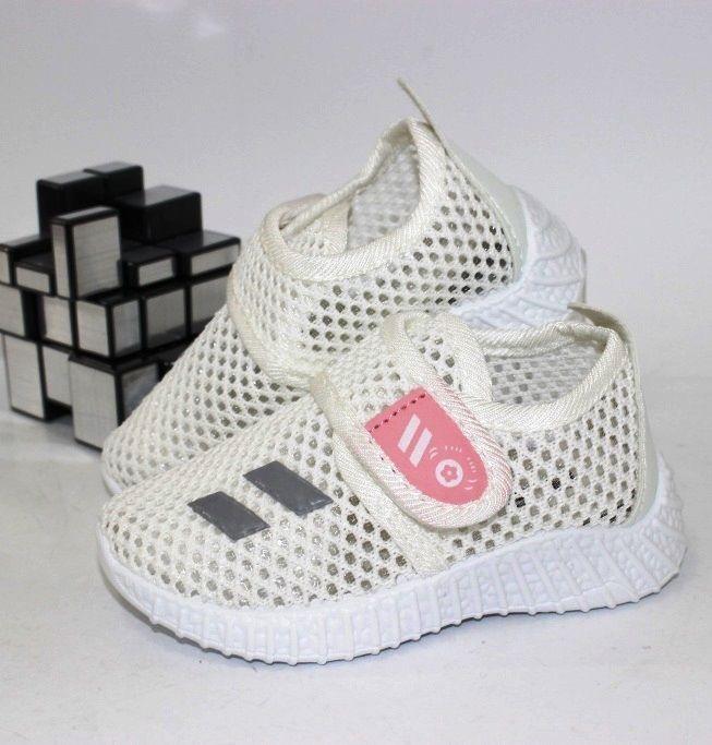 Летние кроссовки на липучке F3726-3 - купить детские кроссовки для самых маленьких девочек