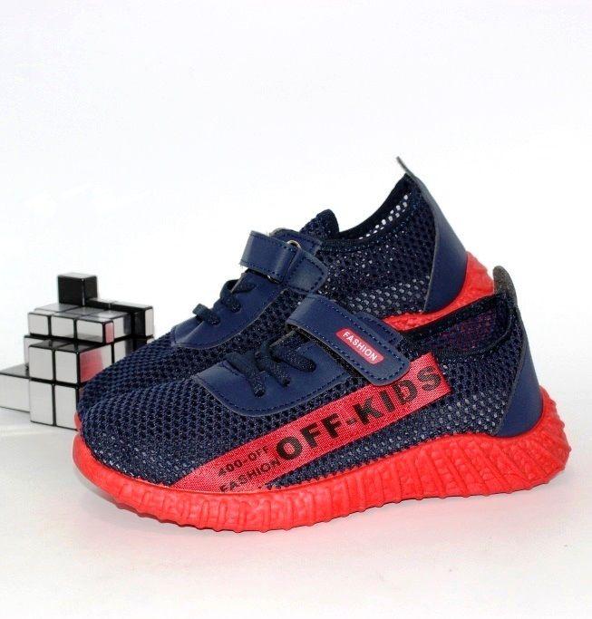 Летние кроссовки на красной подошве для мальчиков
