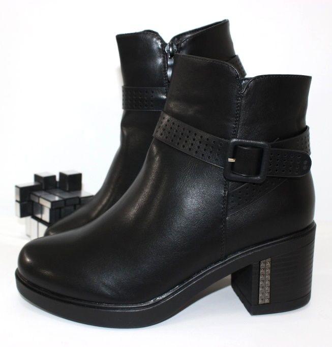 Ботинки весенние и осенние - Ботинки женские невысокий каблук F63-3