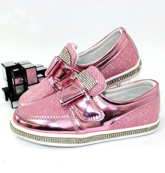 Рожеві туфельки для дівчаток, купити рожеві дитячі туфлі, туфлі шкільні рожеві