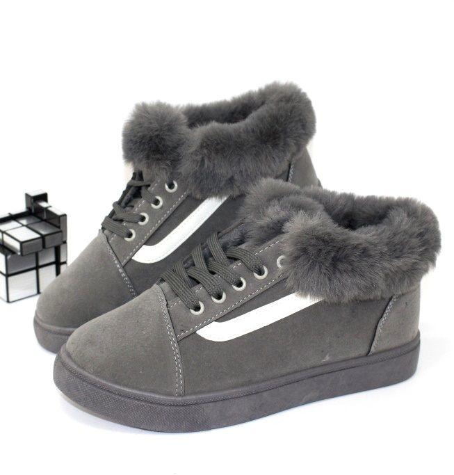 Замшевые зимние кроссовки FB168 - купить зимние кроссовки