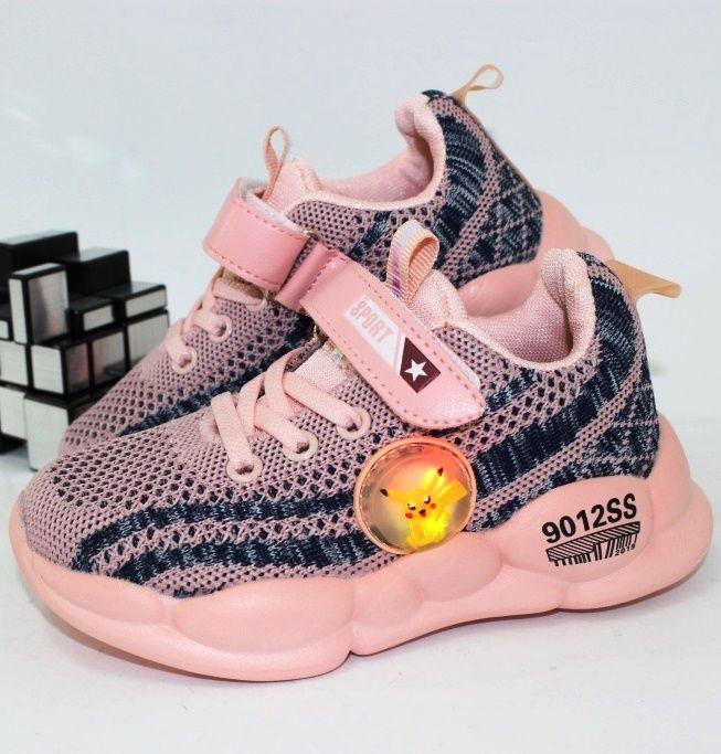 Лёгкие текстильные кроссовки с подсветкой FS2908F-LED - купить детские кроссовки для садика