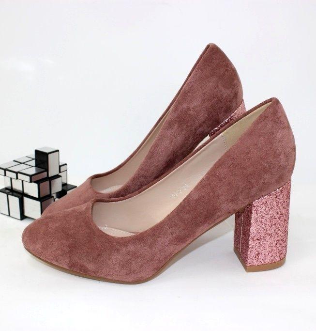 Туфлі жіночі на стійкому каблуці G1-3 - туфлі на шпильці, туфлі в Україні, туфлі зі стразами