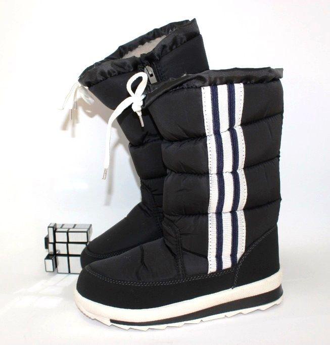 Тёплые дутики G1113-1-черный - стиль, комфорт, удобство.